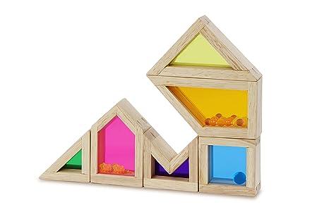 Amazoncom Wonderworld Color Sound Blocks Color And Shape Blocks