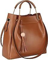 Big Sale - S-ZONE 3-Way Women Designer Leather Handbags Shoulder Bag Purse with Tassel