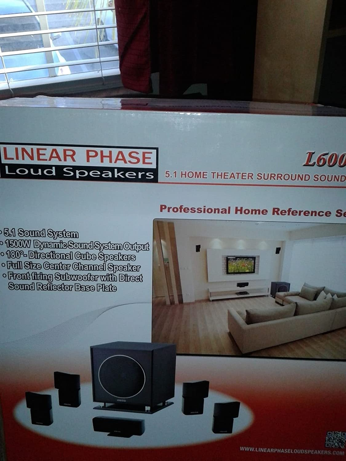Amazon.com: Home Theater Surround Sound System L6000HD Linear Phase ...