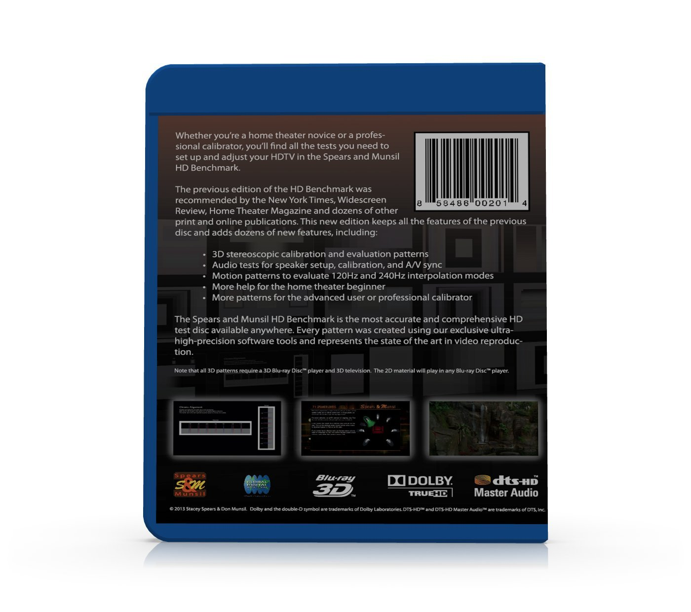 Spears & Munsil HD Benchmark and Calibration Disc 2nd Edition (2013): Amazon.es: Electrónica
