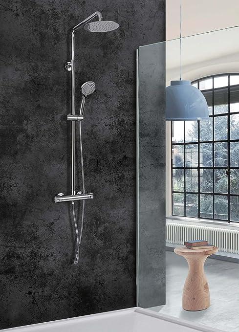Conjunto de ducha termostática Londres Imex: Amazon.es: Bricolaje ...