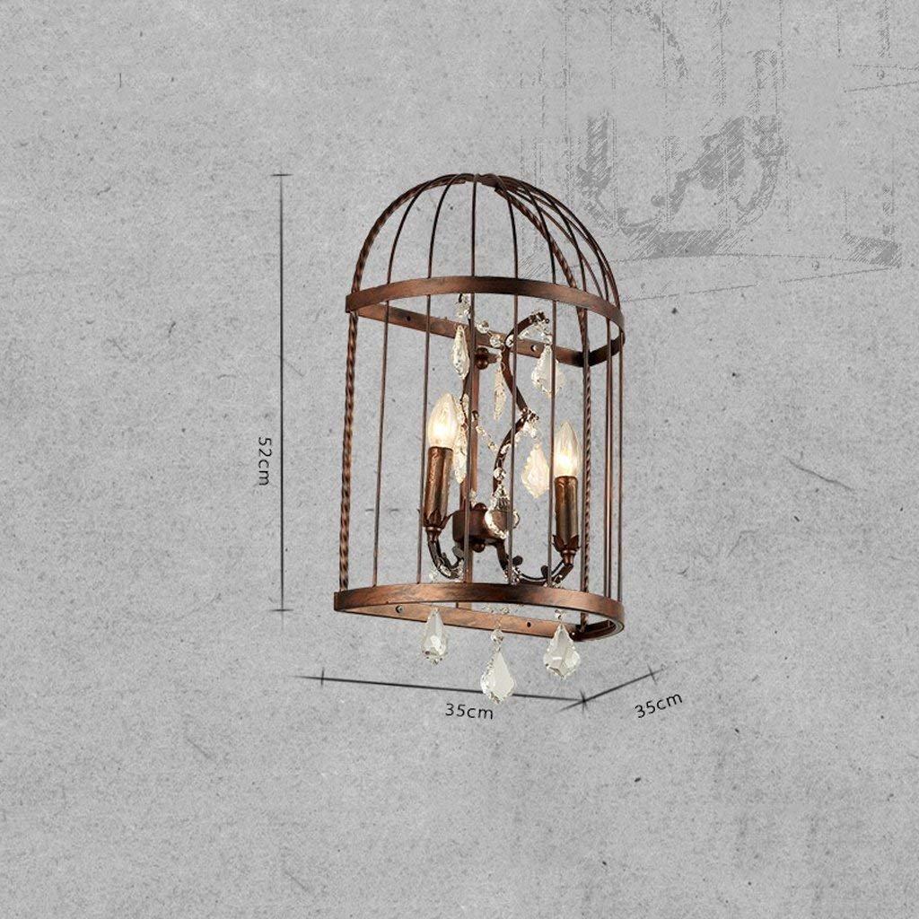 DSJ Loft-industrielle Schlafzimmer-Nachttisch-kreative Schlafzimmer-Nachttisch-kreative Schlafzimmer-Nachttisch-kreative Persönlichkeits-Eisen-Vogelkäfig-Kristallwandlampe B07GF7RQ58 | Deutschland Shop  c5d00f
