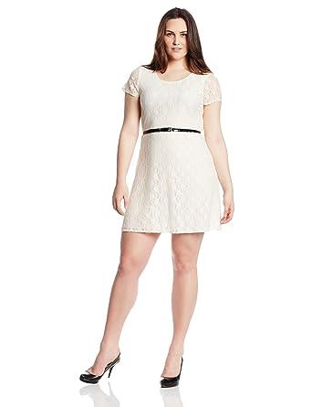 Amazon.com: Star Vixen Women's Plus-Size Lace Skater Dress: Clothing