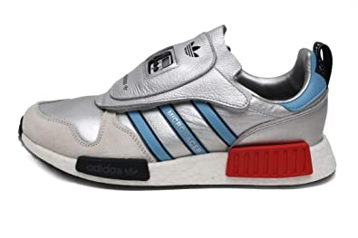 7a41f689a4c6 adidas Micropacer x R1 Mens in Silver Metallic Light Blue