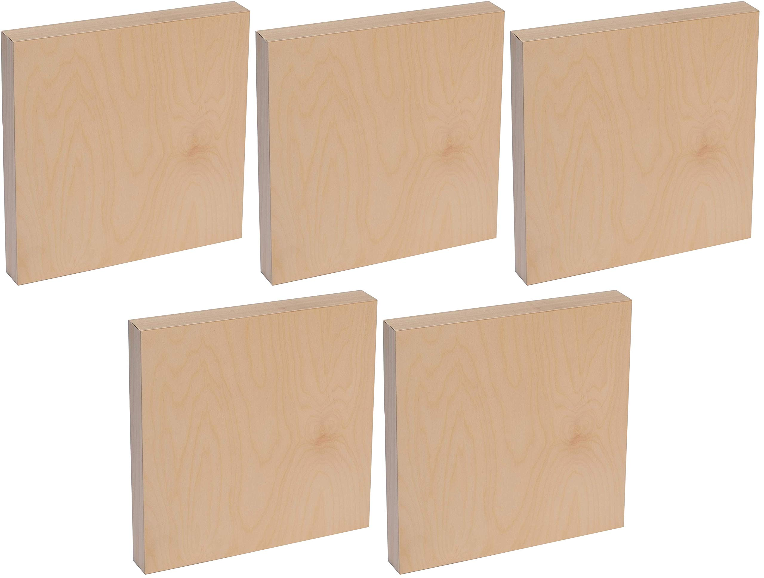 American Easel 16 Inch by 16 Inch by 1 5/8 Inch Deep Cradled Painting Panel (Fіvе Расk) by American Easel, LLC.