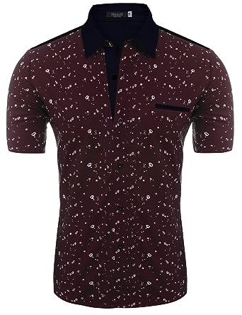 Hasuit Homme T-shirt Polos Manche Courte Casual Business Sport S-XXL HXy0bUFiDT