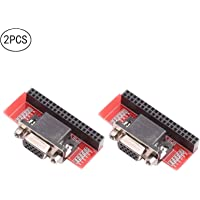 DEVMO 2PCS VGA666 Adapter Board DPI dtoverlays Module for Raspberry Pi 3B / 2B / B+ / A+