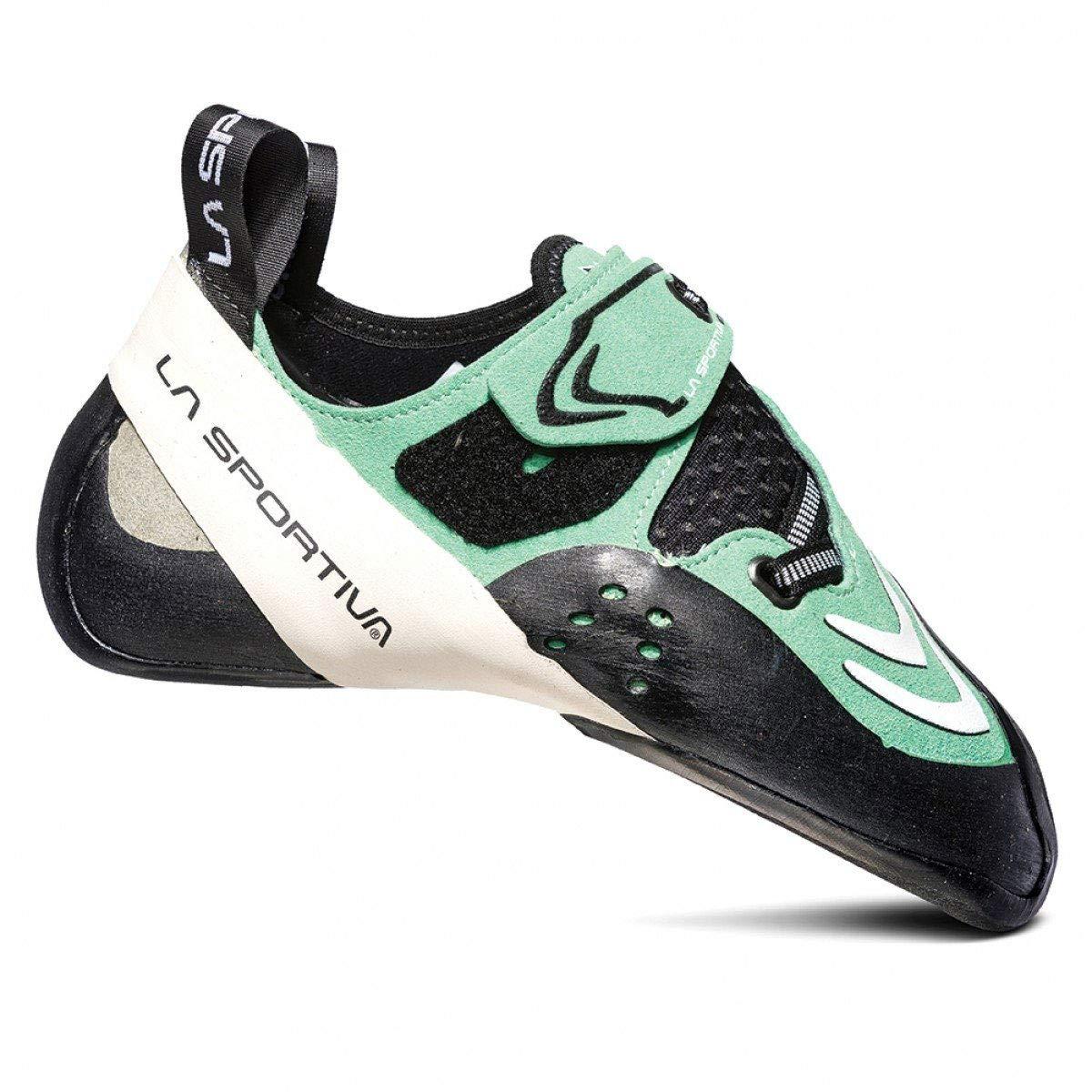 La Sportiva Futura Women's Climbing Shoe, Jade Green/White, 38.5 by La Sportiva