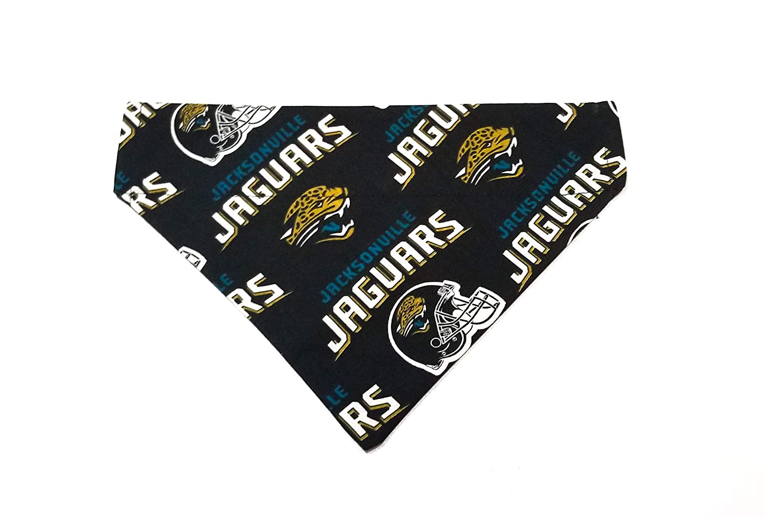 Jacksonville Jaguars Pet No-Tie Dog Bandana Slip On