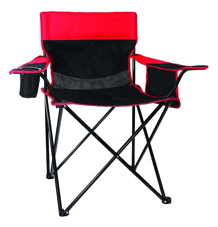Texsport Oversized Arm Chair, Red/Black [並行輸入品] B071S4VPNX