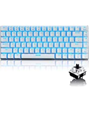 FELiCON® Gaming Mechanical Keyboard Black Switches Keyboard Ajazz Geek AK33 Blue Backlit Metal Multimeia Ergonomic USB Wired for PC Laptop/Computer