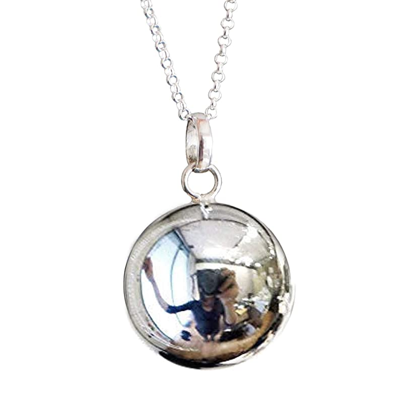 1 Angel Caller Bola Harmony Ball Wish Box Pendants Round Antique Silver Fits 14mm Bead B37o