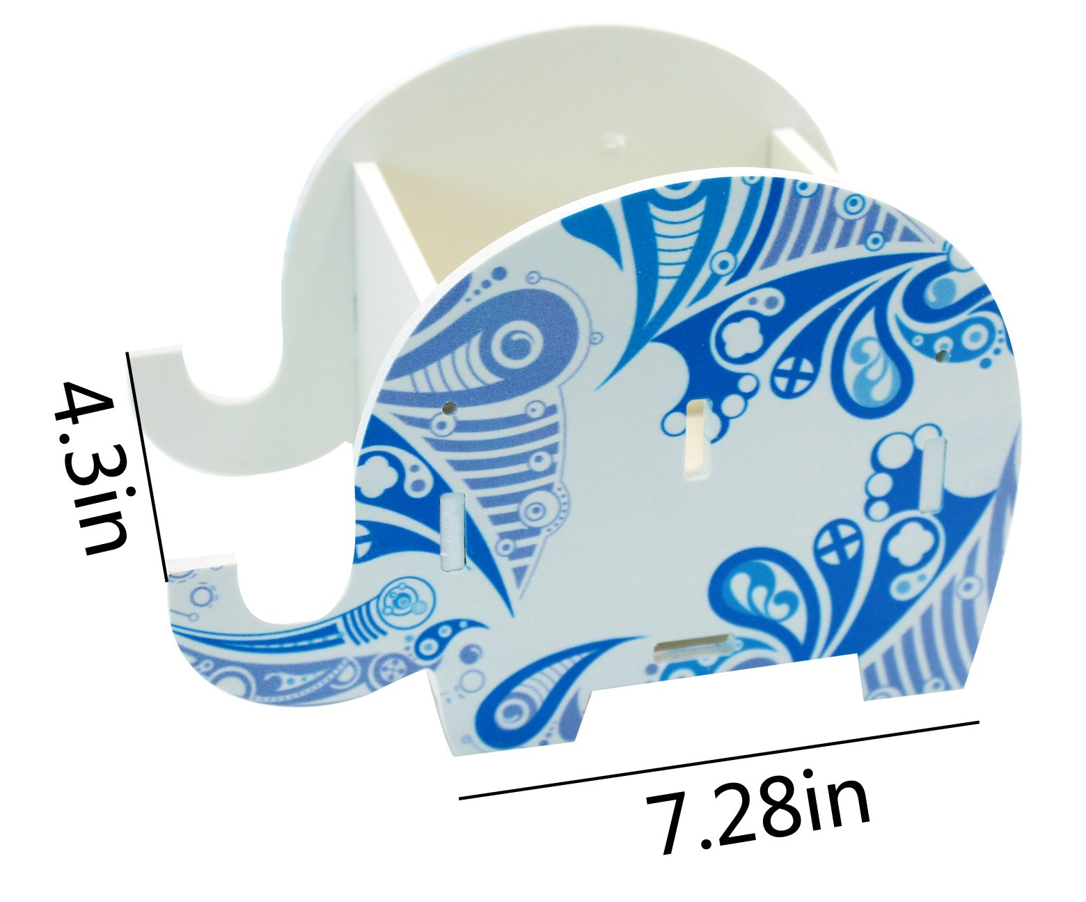 Cute Elephant Pen Pencil Comestic Stationery Holder Cell Phone Stand Multifunctional Storage Box Business Card by KINGSEVEN (Image #6)