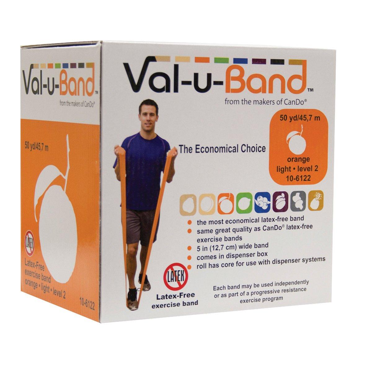Val-U-Band 10-6122 Latex Free Exercise Band, Orange