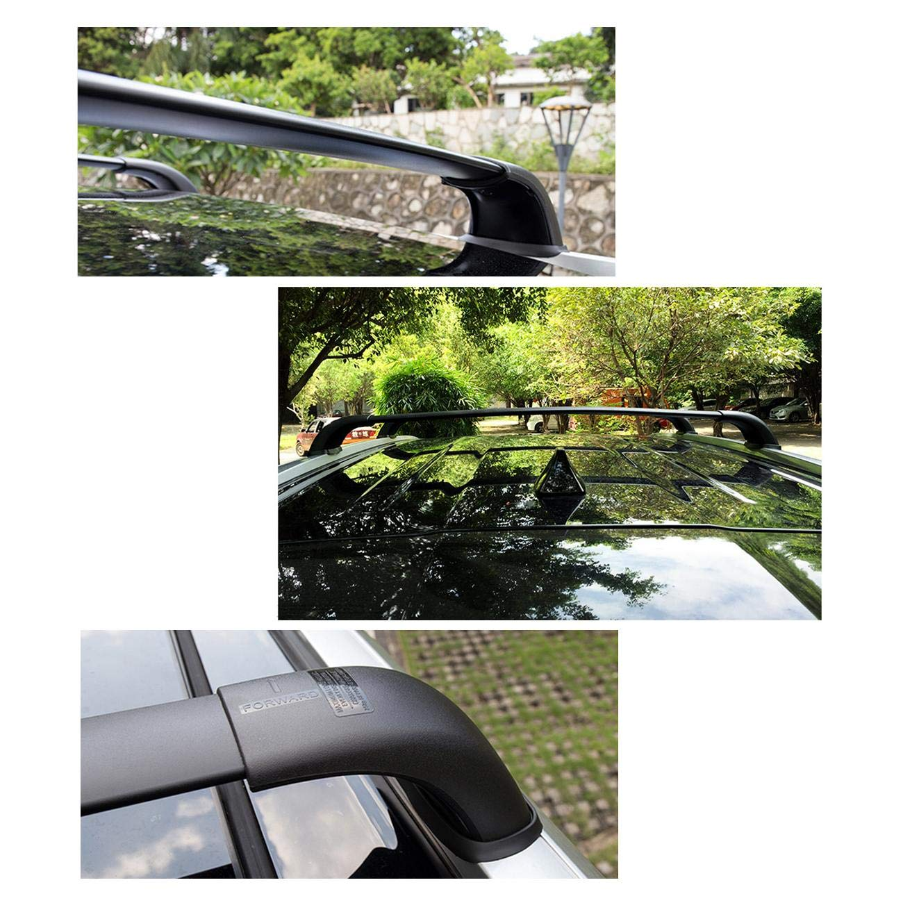 Pair, Black ALAVENTE Roof Rack Cross Bars for Toyota Highlander 2008 2009 2010 2011 2012 2013