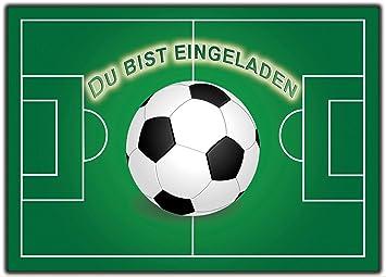 Fussball 12er Set Einladungskarten Kindergeburtstag Kinder Jungen