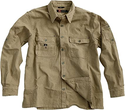 Australian Style Toorak - Camisa para hombre, color caqui