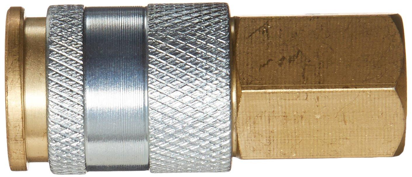 1//4 HI FLO//HVLP Amflo C90-100 Coupler 1//4 FNPT Brass Plated 1//4 HI FLO//HVLP 1//4 FNPT