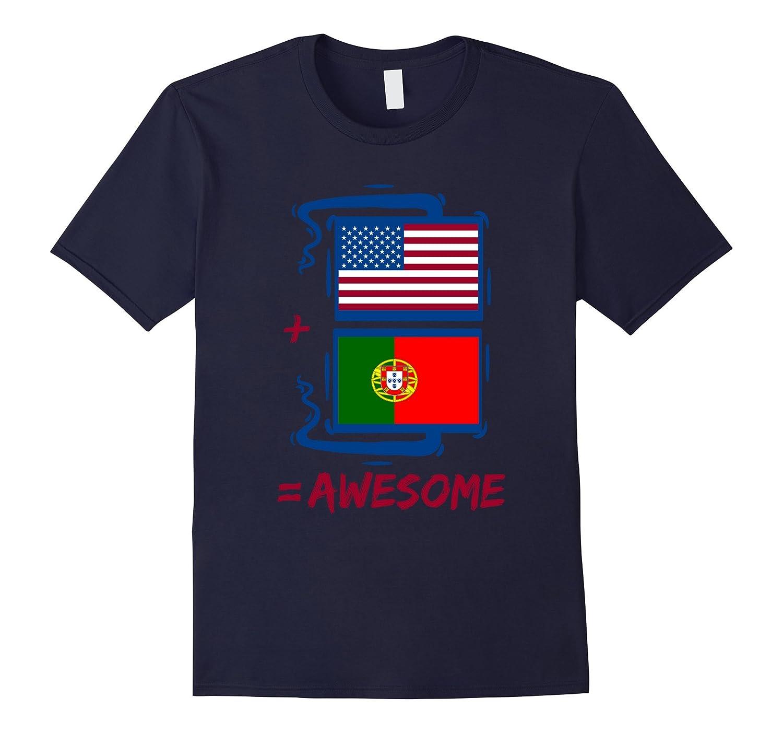 American + Portuguese = Pride Portugal Flag Shirt-FL