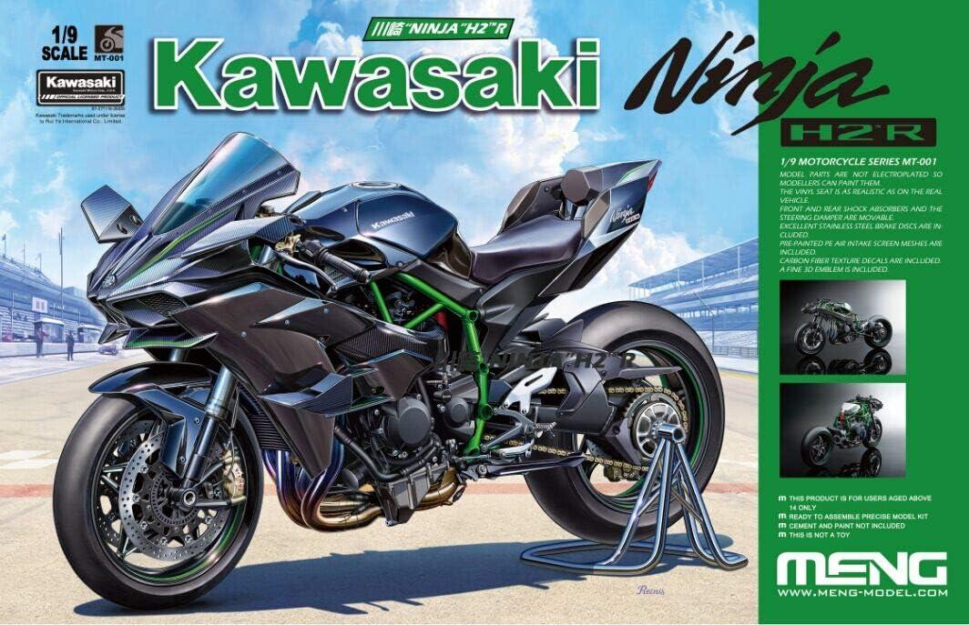 MNGMT001 1:9 Meng Kawasaki Ninja H2R Motorcyle [Model Building KIT]