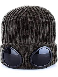 3f130e703f9bd ASVP Shop® Mens Goggle Beanie Knitted Woolly Winter Chunky Beanie ...