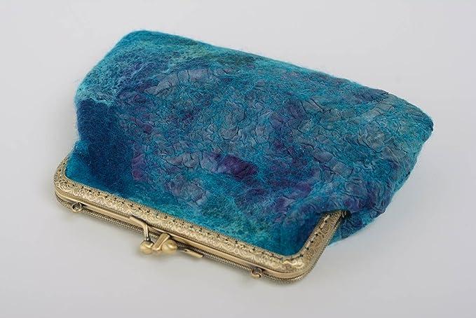 Monedero de fieltro de lana para mujer original estiloso ...