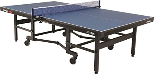 STIGA Premium ITTF Approved Compact Tennis Table Folds to Minimal Storage Dimensions and Comes Fully Assembled