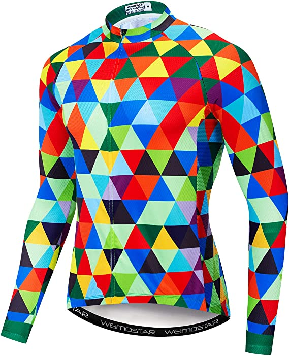 Men's Cycling Jersey Long Sleeve Breathable Biking Shirts Gear Style