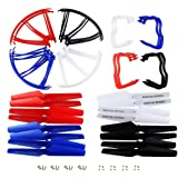 Coolplay Syma X5 X5C X5C-1 Spare Parts Main Blade & Propeller Protectors Blades Frame & Landing Skid Included Mounting Screws for RC Mini Quadcopter Toy