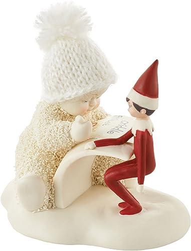 Department 56 Snowbabies Elf On The Shelf Makes A List Porcelain, 3.2 Figurine, Multicolor