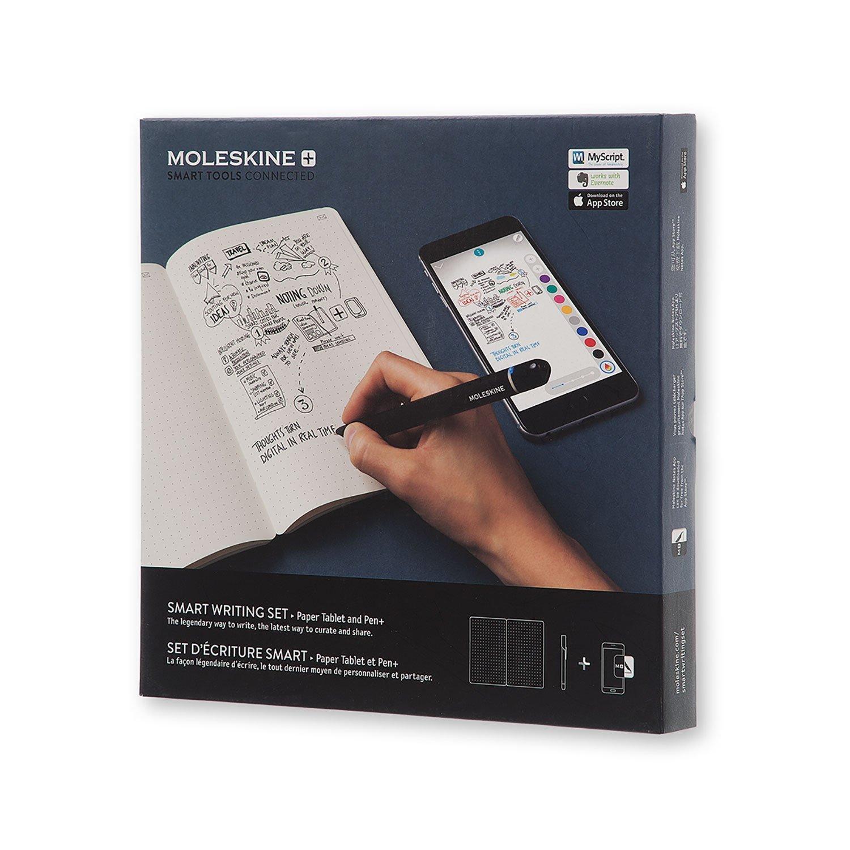 Color Negro Smart Bol/ígrafo Hojas Punteadas Moleskine Cuaderno Digital y Bol/ígrafo Cuaderno con Tapa Dura Negra Apto para Uso con Bol/ígrafo Moleskine+ Set de Escritura Inteligente