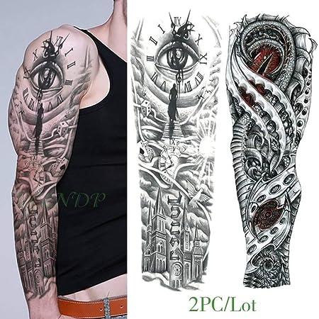 5pcs Impermeable Etiqueta engomada del Tatuaje del dragón del ...