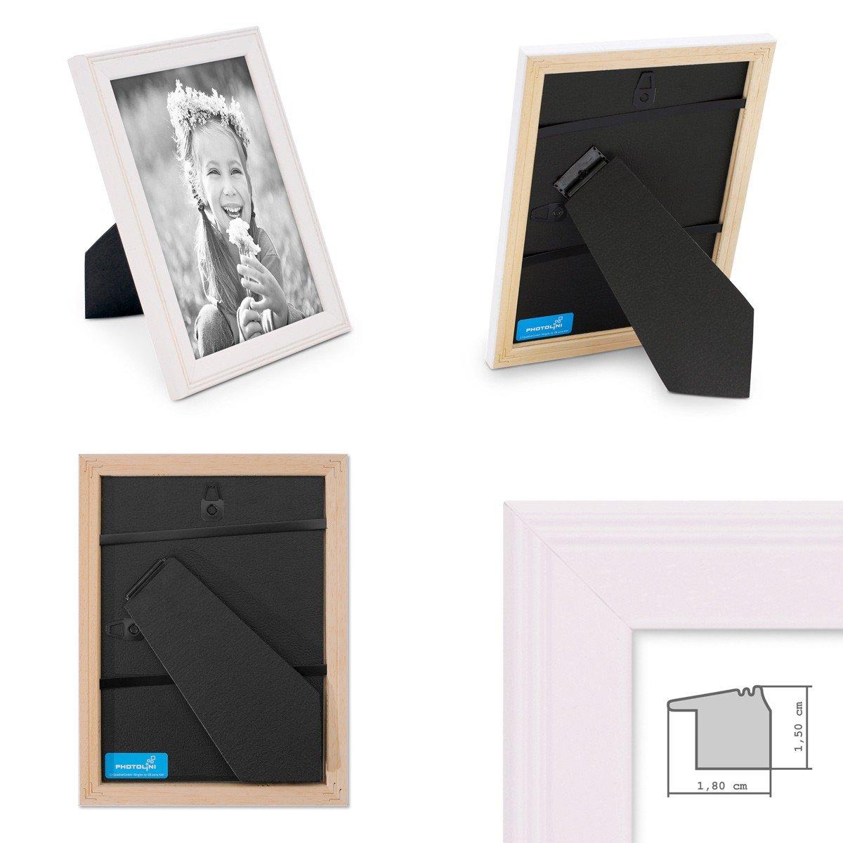 Amazon.de: Photolini 5er Set Landhaus-Bilderrahmen 13x18 cm Weiss ...