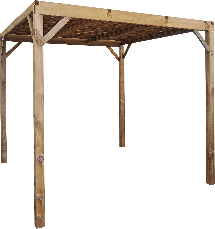 MOBILA-Carpa/pérgola autoclave piso de madera-Burger Jardipolys-lg L 258 x 258 x 235 cm: Amazon.es: Hogar