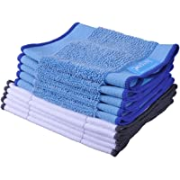 KEEPOW 10 Pack Microfiber Mopping Cloths 5 Wet + 5 Dry for iRobot Braava 380 380t 320 Mint 4200 5200 Vacuum Cleaner