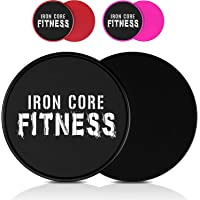 Iron Core Fitness 2 x Dual Sided Gliding Discs Core Sliders Ultimate Core Ab Fitness...