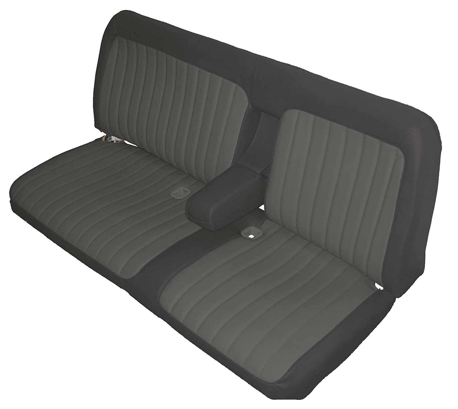 Acme U116-X161 Front Black Velour Bench Seat Upholstery with Charcoal Velour Inserts