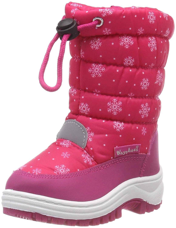 Playshoes Unisex-Kinder Winter-Bootie Schneeflocken Aqua Schuhe Playshoes GmbH 193013