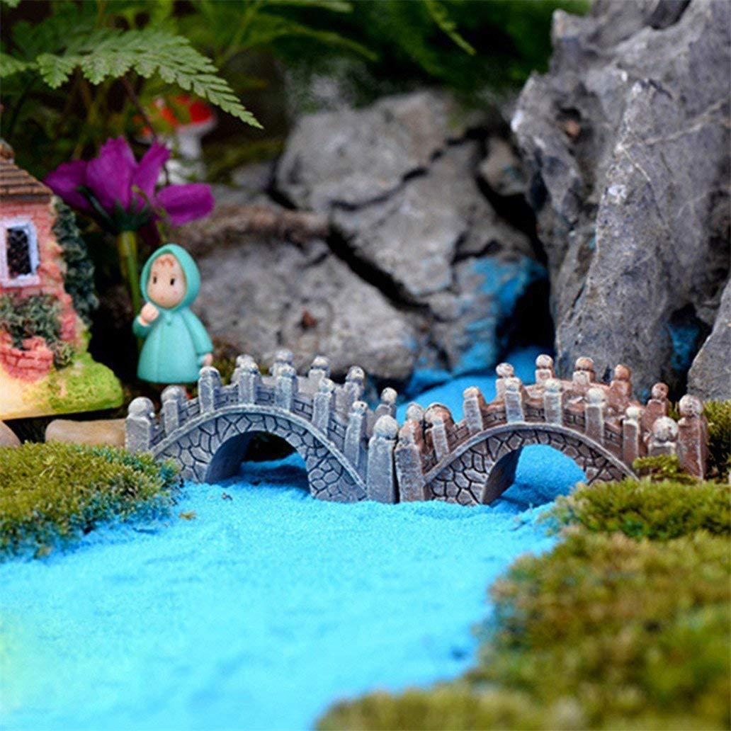 Couleur Al/éatoire Li-ly Premium Qualit/é 2 Pcs R/étro Pont En Fish Tank Aquarium Micro Paysage Miniature Ornements