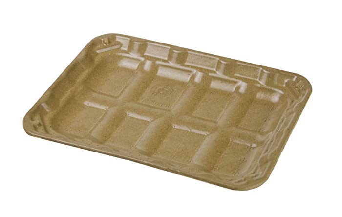 Footprint Fiber 2S Coated Meat & Veggie Trays (440 Pack) - Biodegradable, Eco-Friendly Meat & Veggie Trays in Bulk for Grocery Supermarket Stores & Farm Fresh Packaging