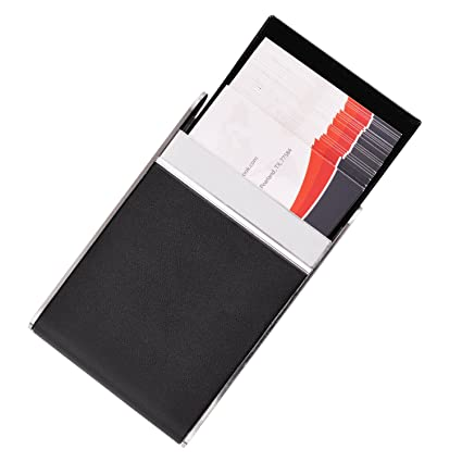 Amazon maxgear leather business card case slim business card maxgear leather business card case slim business card holder with magnetic shut black colourmoves