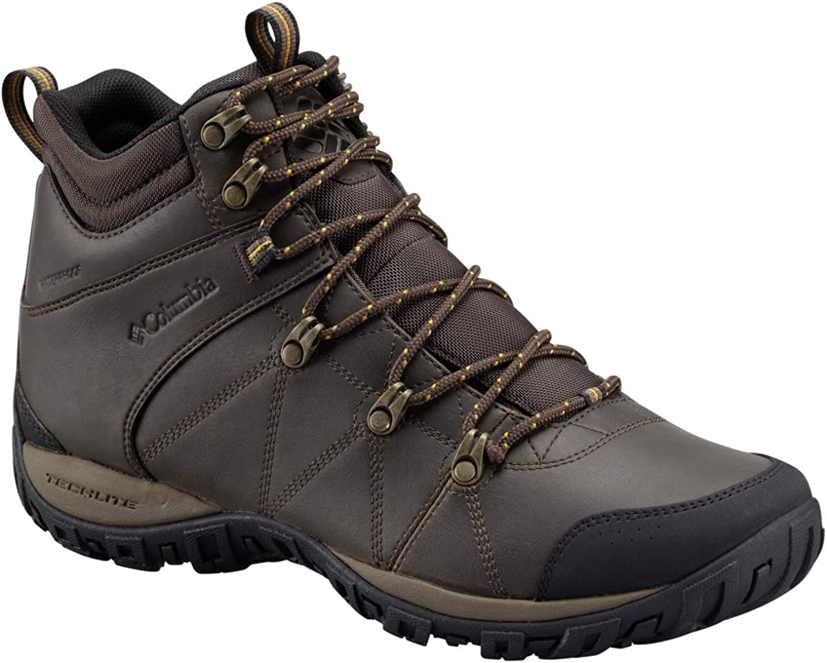 Columbia Men s Peakfreak Venture Mid Omni-Heat Waterproof Wide-W Hiking Boots, Cordovan Caramel