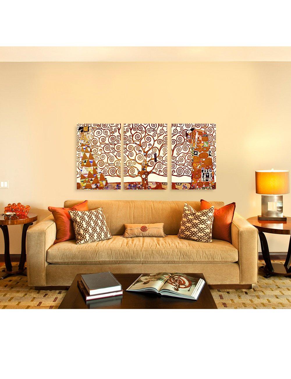 Amazon.com: DECORARTS The Tree of Life by Gustav Klimt (Triptych ...