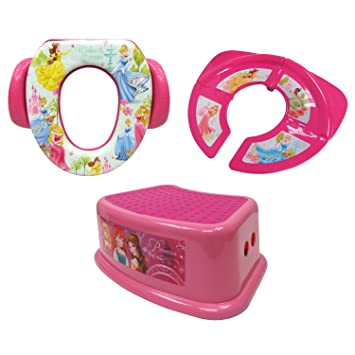 Marvelous Disney Princess 3 Piece Potty Training Kit Soft Potty Folding Travel Potty And Step Stool Pink Pabps2019 Chair Design Images Pabps2019Com