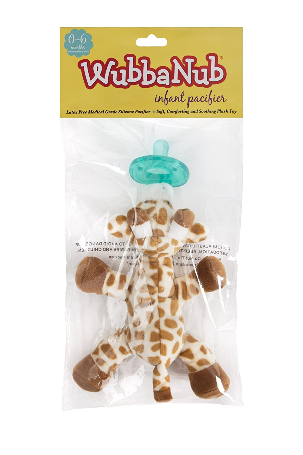 amazon com wubbanub infant pacifier giraffe baby pacifiers