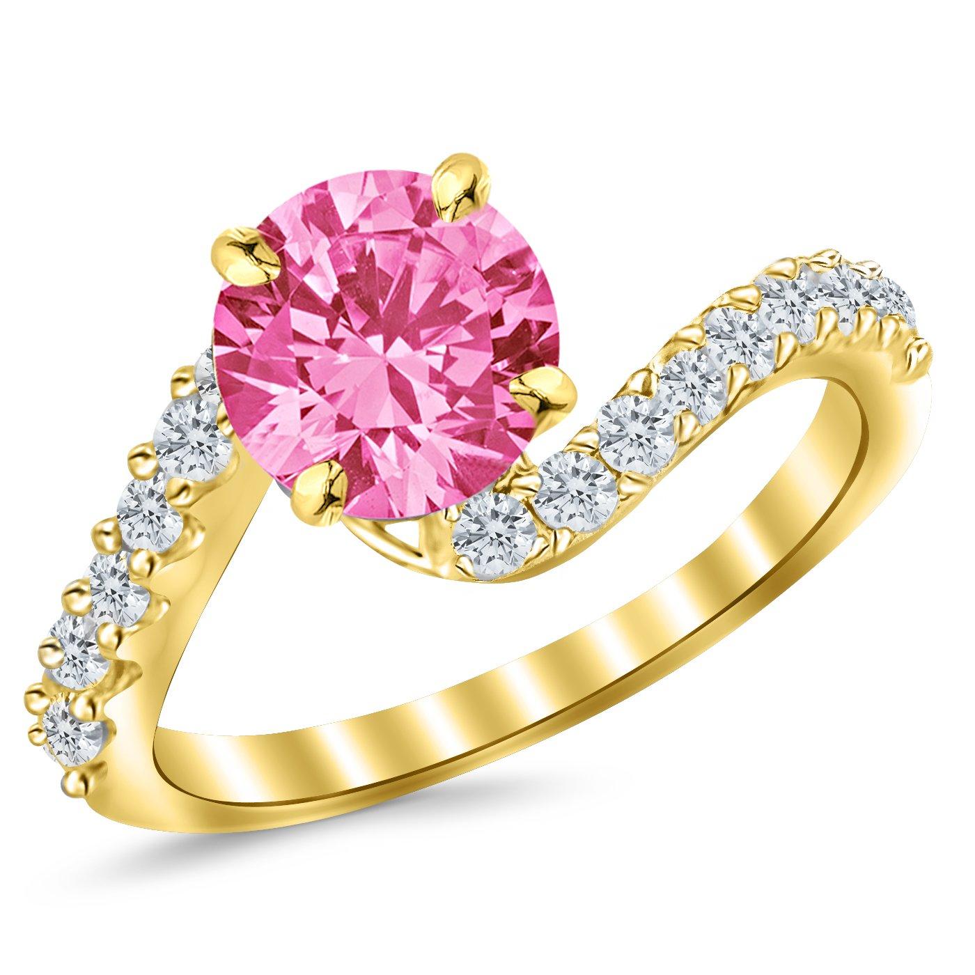 1.26 Carat 14K White Gold Twisting & Curving Diamond Engagement Ring ...