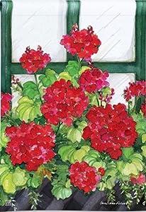 BreezeArt Window Box Geraniums Garden Flag 31270