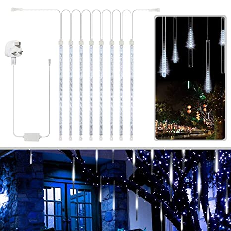 Christmas Lights That Look Like Water Falling.Led Meteor Shower Lights Savvypixel Led Waterproof Christmas Lights Falling Rain Drop Icicle Snow Fall String For Holiday Xmas Tree Valentine