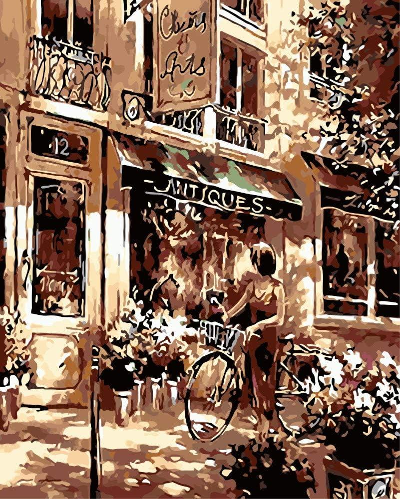 ADVLOOK Pintando Adultos por Numero Mujer, Andar En Bicicleta ...