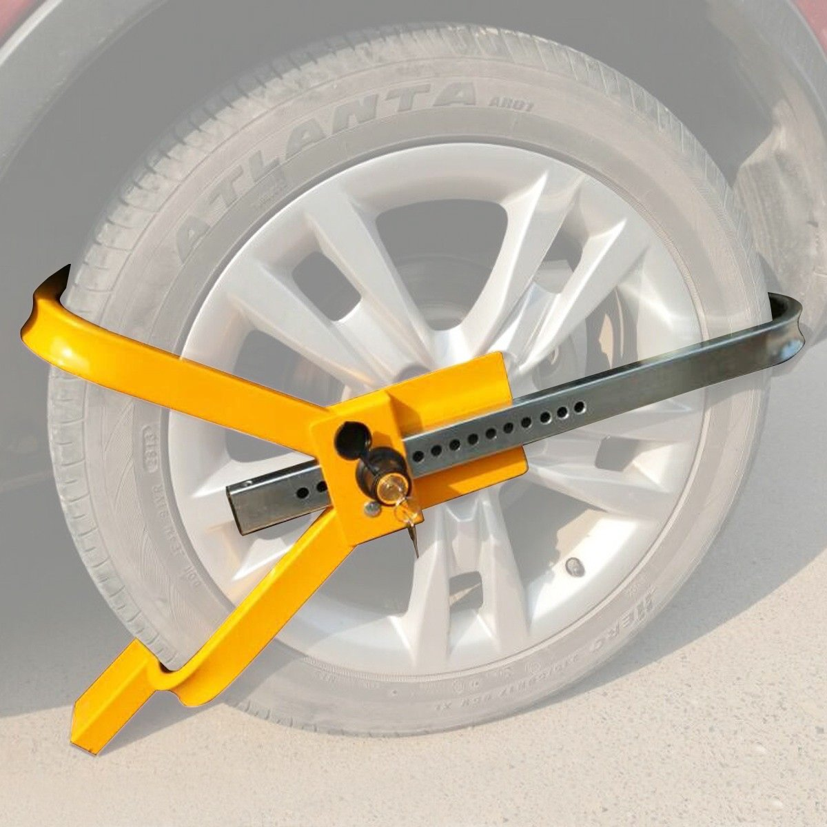 Goplus Wheel Lock Tire Trailer Auto Car Truck Anti-Theft Security Towing Tire Clamp by Goplus (Image #1)